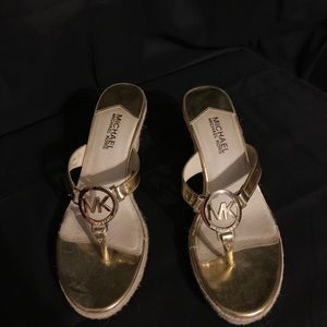 Michael Kors metallic gold sandal size 7.5